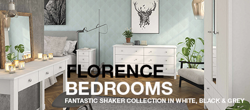 FLORENCE Shaker style in soft grey, white, or black