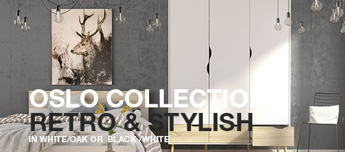 Oslo Collection in White-Oak or White-Matte Black