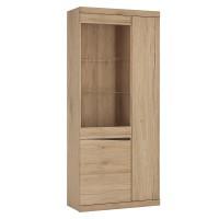 Kensington Tall 3 door display cabinet in Oak