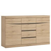 Kensington Living 2 door 3+3 drawer sideboard in Oak
