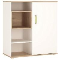 4KIDS Low cabinet with shelves (sliding door) with lemon handles