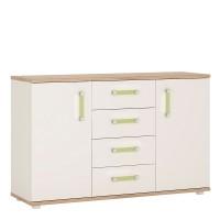 4KIDS 2 door 4 drawer sideboard with lemon handles