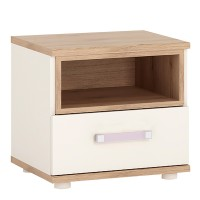 4KIDS 1 drawer bedside cabinet with lilac handles