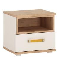 4KIDS 1 drawer bedside cabinet with orange handles