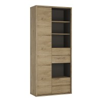 Shetland Tall wide 1 door 4 drawer bookcase