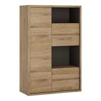 Shetland 1 Door 4 drawer display cabinet