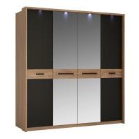 Monaco 4 door wardrobe with mirror doors