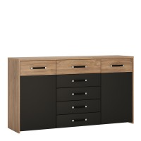 Monaco 2 door 5 drawer wide cupboard