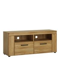 Cortina 2 drawer TV cabinet in Grandson Oak