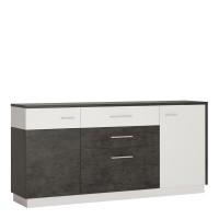 Zingaro 2 door 2 drawer 1 compartment sideboard