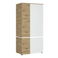 Luci 4 door wardrobe (including LED lighting) in White and Oak