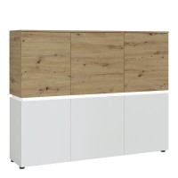 Luci 6 door cabinet (including LED lighting) in White and Oak