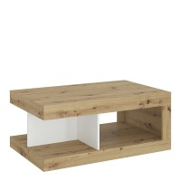 Luci Coffee table in White, Oak and Platinum