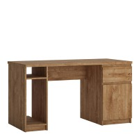 Fribo 1 door 1 drawer twin pedestal desk in Oak