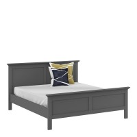Paris King Bed (160 x 200) in Matt Grey