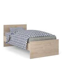 Naia Single Bed 3ft (90x190) Jackson Hickory Oak structure