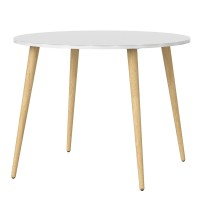 Oslo Dining Table - Small (100cm) in White and Oak
