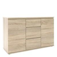 Nova Sideboard - 3 Drawers 2 Doors in Oak