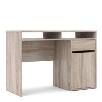 Function Plus Desk 1 Door 1 Drawer in Truffle Oak