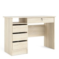Function Plus Desk (3+1) handle free Drawer in Oak
