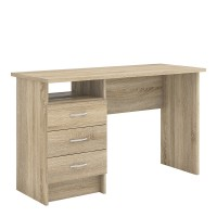 Function Plus Desk 3 Drawers in Oak FSC Mix 70 % NC-COC-060652