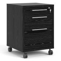 Prima Mobile file cabinet in Black woodgrain