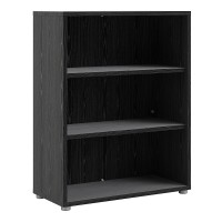 Prima Bookcase 2 Shelves in Black woodgrain