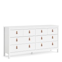 Barcelona Double dresser 4+4 drawers in White