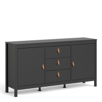 Barcelona Sideboard 2 doors + 3 drawers in Matt Black