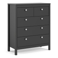 Madrid Chest 3+2 drawers in Matt Black
