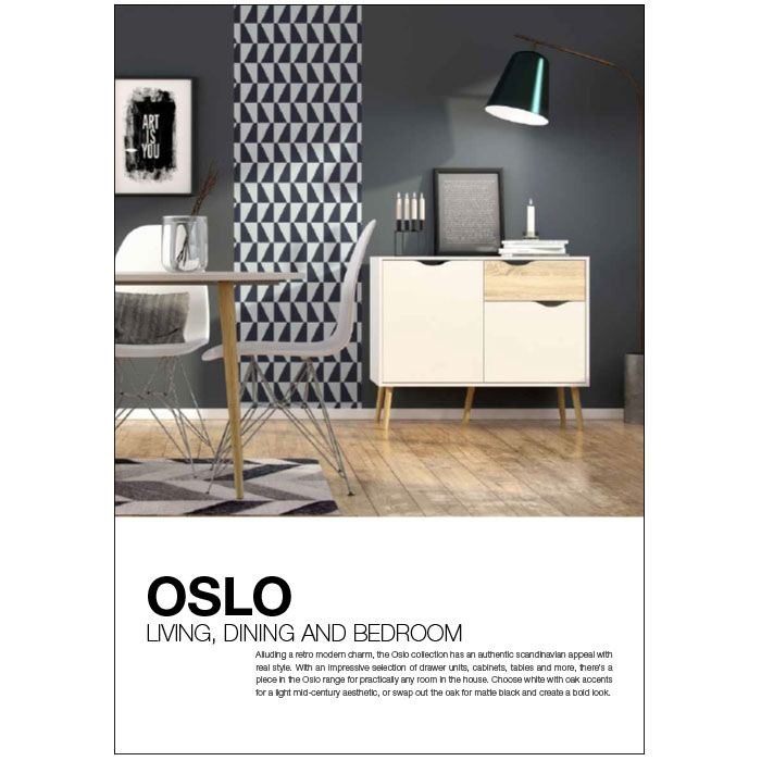 Oslo Living, dining and bedroom