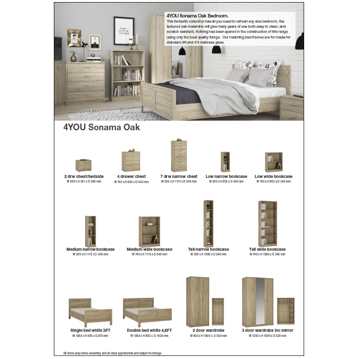 4YOU Bedroom White and Oak 2pp to download