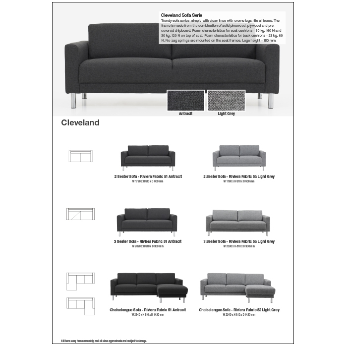 CLEVELAND SOFA 2pp to download